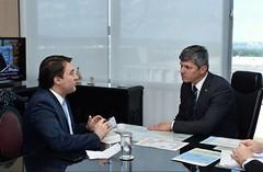 Audiência com o Ministro dos Transportes, Portos e Aviação Civil, Valter Casimiro.