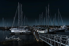 Slip to Shore (4 Pete Seek) Tags: charleston charlestonsc charlestonmarina marina boats slip night marinaphotography boatphotography