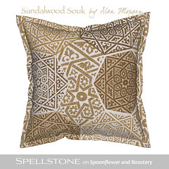 Sandalwood Souk by Alex Morgan (Spellstone) Tags: marrakech marrakesh morocco africa spice star silver saffron sandlewood lucky tile heptagon souk spellstone spoonflower roostery art craft design surface pattern society6 alexmorgan pillow cushion phonecase textile fabric wallpaper totebag tote clock wallclock mug rug pouch laptopskin clothing apparel sewing curtains