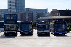 Test day for the new bus station at The Hard, Portsmouth Harbour, March 27th 2017 (Southsea_Matt) Tags: portsmouthharbour thehard england unitedkingdom march 2017 spring canon 80d sigma 1855mm bus omnibus publictransport passengertravel vehicle lv52zdx 17740 alx400 alexanderdennis trident enviro200 e200 stagecoachhampshire gx13aot 27873 yj05xop 53140 optaresolo firsthampshire wrightstreetlite sk63khz 63048 thestar southdown