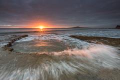 Morning Pool (Antony Eley) Tags: sunrise dawn sun rays water waves splashing rockpool tide