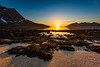 Solnedgang i Grøtfjorden (mirrormatch) Tags: fjæra mountains strand hav fjell grøtfjord solnedgang sea