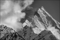 Le Alps (nl_photo) Tags: 2018 chamonix europe france fujifilm travel mountain mountains blackandwhite monochrome bw blackwhite landscapes clouds alps montblanc