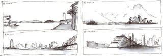 4 views of Sydney Harbour from Dawes Point