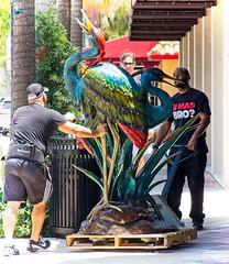 Someone got a toy Birdy (LarryJay99 ) Tags: 2018 losolas ftlauderdale florida artwork art sculpture stature guys workingmen