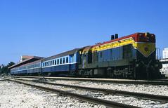 Random rarity (Bingley Hall) Tags: transport train trainspotting rail transportation railway railroad diesel locomotive engine emd israel jerusalem station passenger g12
