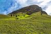The workshop of giants / Мастерская гигантов (Vladimir Zhdanov) Tags: travel chile sky polynesia rapanui easterisland cloud mountain ranoraraku volcano moai sculpture ancient grass rock