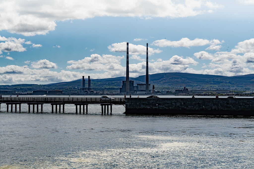 THE POOLBEG STACKS [AS SEEN FROM CLONTARF ROAD IN DUBLIN]-139845