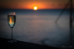 Celebrating (Theresa Hall (teniche)) Tags: australia canberra canoncollective greatbarrierreef heronisland nikond750 queensland teniche theresahall beauty island nature nikon reef sunset champagne celebration travel celebrating champagneglass colour color