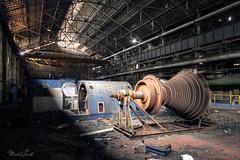 Dark power plant (Michal Seidl) Tags: abandoned power plant hdr urbex industry infiltration belgium hfb opuštěná elektrárna ocelárna steel works canon decay