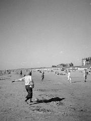 Beach football (25/8) Tags: egmond olympus pen ee2 agfaphoto apx100new apx100 ilfotecddx ilfotec
