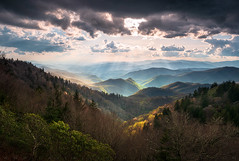 Great Smoky Mountains North Carolina Scenic Landscape Cherokee NC (Dave Allen Photography) Tags: greatsmokymountains nc mountains northcarolina rays valley smokies cherokee blueridgeparkway outdoors nature landscape scenic light ridges nationalpark spring parkway appalachians tn tennessee