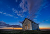 The Liberty Schoolhouse at Sunset (Amazing Sky Photography) Tags: 1910 adpprov3 alberta laowa libertyschoolhouse luminar luminositymask moonlight sony sunset twilight abandoned oneroom pioneer prairie rustic sky stars