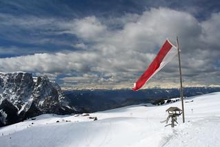 View from Bergrestaurant Puflatsch