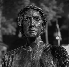 It's her again (andymulhearn) Tags: xpro2 xf35mmf2rwr fuji bw nottingham statue
