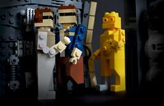 """Oh, you're perfectly welcome, sir."" (Kit Bricksto) Tags: lego star wars empire strikes back v 5 han solo leia organa rebellion falcon c3po model miniland moc"