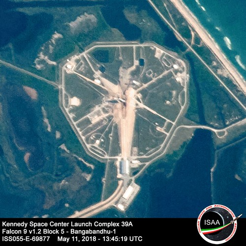 Kennedy Space Center Launch Complex 39A with SpaceX Falcon 9 v1.2 Block 5 - Bangabandhu-1