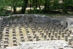 Great Baths, Dion (2).JPG (tobeytravels) Tags: alexanderthegreat alexander3rd macedon macedonia thucydides brasidas orpheus hellenistic cranicos leake thermalbaths hypocaust 2ndcenturybc mosaic asclepios thermae