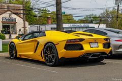 2015 Lamborghini Aventador LP700-4 Roadster (Rivitography) Tags: supercar car exotic rare fast expensive luxury greenwich connecticut 2018 canon rebel t3 adobe lightroom rivitography lamborghini aventador lp7004 roadster yellow italian convertible