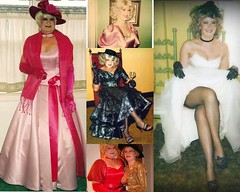 Anna and Priscilla . (Priscilla St. John) Tags: crossdressingcouple husbandandwife transvestite crossdressing priscilla girlandgurl gowns satin feminine glam