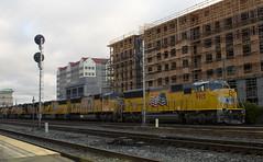 Waiting to Go East (I) (imartin92) Tags: emeryville california unionpacific railroad railway freight train emd sd70m sd59mx locomotive sd70ace ge generalelectric es44ac