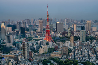 Tokyo Tower from Roppongi Hills