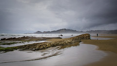 Ocean's Edge (LadyBMerritt) Tags: erosion seastack jumpoffjoe ocean pacific sand oregon newport people misty rock