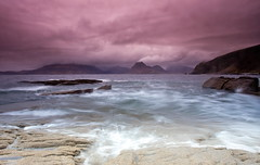 Stormy weather at Elgol, Skye (PeterYoung1.) Tags: atmospheric beautiful colours clouds elgol landscape mountains nature rocks scenic scotland seascape sea scottish skye isleofskye uk water storm peteryoung1 pink