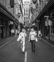 melbourne-1663-ps-w (pw-pix) Tags: people man woman boy girl walking talking cm bags shopping signs lines windows doors shops retail road street lane bw blackandwhite monochrome sonya7 irconvertedsonya7 850nminfrared ir infrared degreavesstreet offflindersstreet cbd melbourne victoria australia peterwilliams pwpix wwwpwpixstudio pwpixstudio
