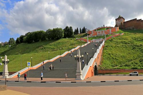 Chkalovskaya stairs