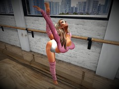 Alex -Freedom in Flexibility 1 (isabellajordynn) Tags: dance ballet extension beauty secondlife art artphotography avatar avi arch flexibility grace toe discipline virtual life poetry barre classic healthy solid toned natural ballerina limber stretch gymnast posture poise