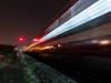Disappearing in a flash, a trail of light. #ShotOnNoctaCam (NoctaCam) Tags: night lighttrail longexposure train light