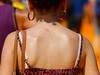 hot greasy back (320828282) Tags: sweaty greasy oily back shoulders girl woman hot rear beind bra strap laces skin summer heat pimples blades sexy