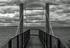 Sky projection (OzzRod) Tags: sony a7rii smcpentaxfa43mmf19ltd viewing platform deck cantilever sea clouds breakwater adolphe stockton newcastle monochrome blackandwhite