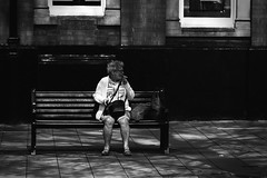 _ (dagomir.oniwenko1) Tags: street style skegness lincolnshire life sitting woman female smoking blackandwhite bw darkness england uk gb canon candid canon100mmf28lismacro canoneos7d people humans li