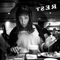 REST! (Frank Busch) Tags: 247 frankbuschphotography alwayson asia bw blackwhite blackandwhite bnw coffee constantstress japan monochrome people relaxation rest shibuya street streetphotography tokyo unhappy wwwfrankbuschname