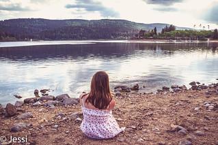at the lake...