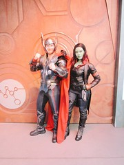 gamora & thor | hollywood land backlot (Lawrence Rosales) Tags: gamora thor disneyland