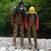 Chameau-oliv-Bach8750 (Kanalgummi) Tags: rubber waders chestwaders wathose gloves gummihandschuhe bomber jacket bomberjacke