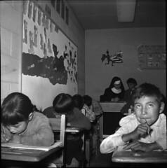 Pukatawagan Residential School Classroom, 1960 (vintage.winnipeg) Tags: manitoba canada vintage history historic pukatawagan