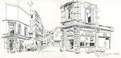 Place du commissaire Maigret - Liège (lolo wagner) Tags: usk liège rencontre croquis belgique