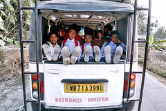 Images from Rural Bengal (pallab seth) Tags: children kids boys school tatamagic transport bodaganj jalpaiguri bengal india dailylife candid road