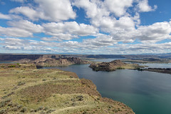 View of Banks Lake from Steamboat Rock (mattsj1984) Tags: parks steamboatrockstatepark landscapes lakes bankslake