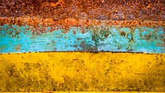 #PicOfTheDay Rusty colors (Candidman) Tags: rusty colors rust metal yellow light blue