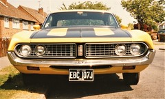 Denise`s 1971 Ford Torino 351ci cleveland (Rickster G) Tags: 71 ford 1971 torino fordtorino 71torino yellow 351 70s antique auto automobile car classic collectible custom hardtop image hotrod muscle oldschool photo photograph picture photos rare streetstrip usa usaford v8 vehicle vintage musclecar uk
