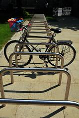 Alone (maddpete) Tags: bike bikerack hoops