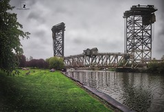 The Bridge (Zouhair Lhaloui) Tags: bridge chicago windycity hdr aurorahdr river water trees clouds illinoois dramatic cityscape landscapes usa grass green 2018 zouhairlhaloui outdoors noperson structure buildings