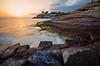 Aware (f25design) Tags: water rock ocean sea sunset beach sky landscape dawn coast shore evening cove wave outdoor bodyofwater outdoors seashore headland island seascape sun horizon