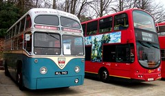 BEA /LT MLL740  & WVL1 Brooklands 15/04/18. (Ledlon89) Tags: bus buses london transport lt lte lptb londonbus londonbuses vintagebuses brooklands londontransport londonbusmuseum weybridge