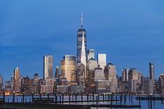 Blue hour skyline (Denis Roschlau) Tags: longexposure bigapple architecture naturallight newport newyork highrise skyscraper skyline downtown manhattan dusk bluehour
